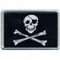 Pirate magnet with a bandage