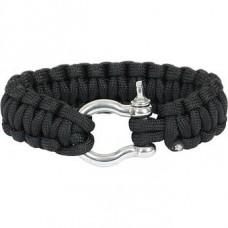 Paracord bracelet steel buckle