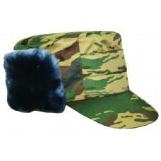 Cold-proof cap natural fur