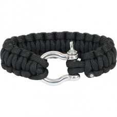 Paracord bracelet steel buckle