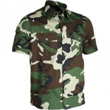 Shirts short sleeve camouflage