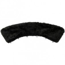 Collar of faux black fur