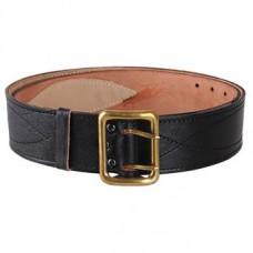 Leather belt officer on skins. Lined