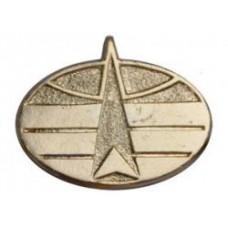 Buttonhole emblem Kosmicheskie voiska, new samle, golden