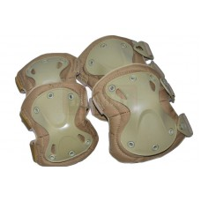 Set of knee and elbow pads (X-type) Sandy