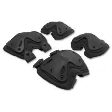 Set of knee and elbow pads (X-type) Black