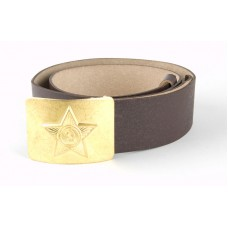 Soldier's belt, leather, plate with star