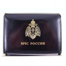 Cover for driving license and certificate MOE Rossii with badge